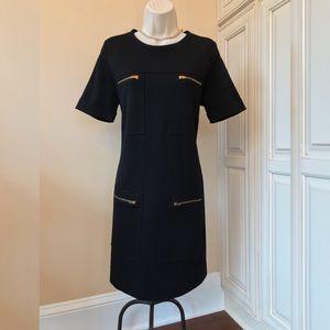 J Crew Black Label Wool Blend Sheath Dress - 8